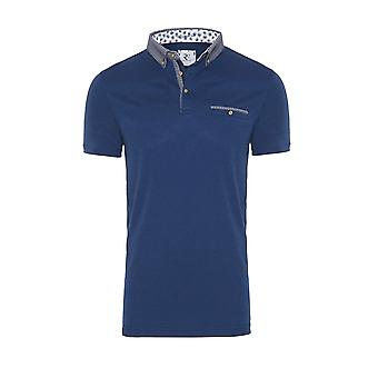 R2 Short Sleeved Pocket Polo Shirt Navy