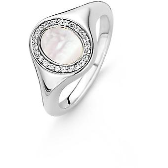 12085MW Ring - set Ring Mobilteil ovale weiße Frau