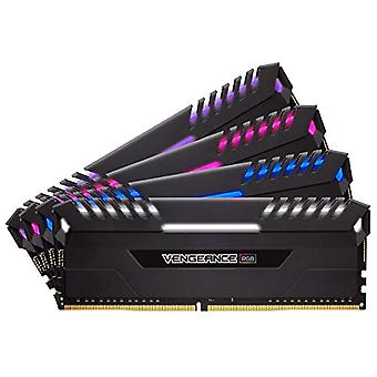 Corsair Vengeance RGB RGB Memory Kit Illuminated RGB LED Enthusiastic 64 GB (4x16 GB), DDR4 2666 MHz, C16 XMP 2.0, Black