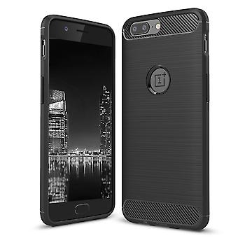 Carcasa para OnePlus 5 Case Protection TPU Slim Armor Carbon Fiber Black