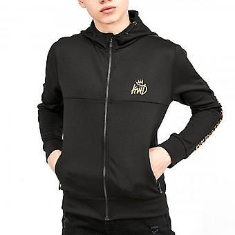 Kings Will Dream Junior Gisha Black/Gold Zip Up Hoody Sweatshirt J524