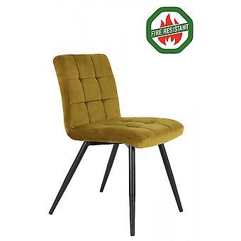Light & Living Dining Chair 57x49x84cm Olive Fr Velvet Ocher