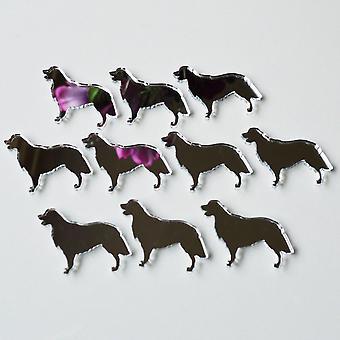 Retriever Hund Seite Profil Mini Craft Größe Acryl Spiegel (10Pk)
