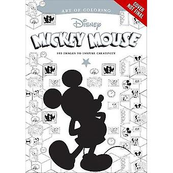 Art Of Coloring Mickey Mouse And Minnie Mouse 100 Images To Inspire Creativity by Disney Book Group