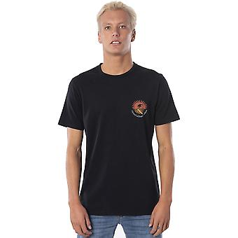 Rip Curl Distant Short Sleeve T-Shirt in Washed Black