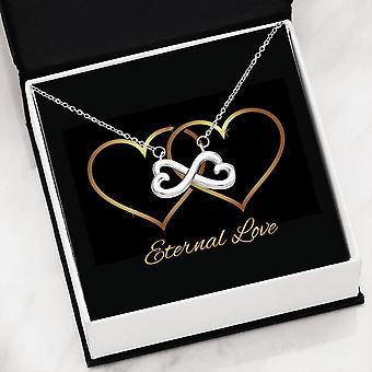 Infinity Heart Necklace | Message Card - Eternal Love