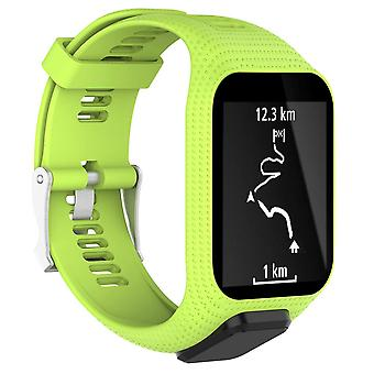 for TomTom Spark 3 Replacement Wristband Bracelet Strap Band Metal Buckle GPS Watch[Green]
