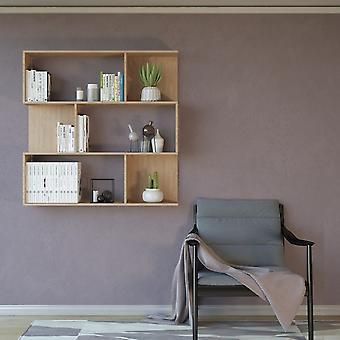 Libreria Twino Color Legno Naturale in Truciolare Melaminico 115x22x115 cm