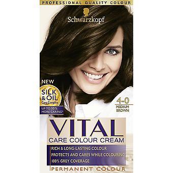 Schwarzkopf 3 X Vital Hair Colour - Medium Brown 4-0