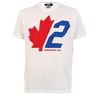 Dsquared2 S74gd0756s22427100 Män's White Cotton T-shirt