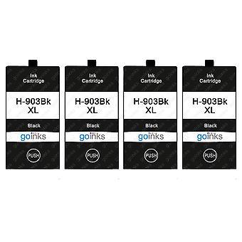 4 Go-inkten zwarte printerinktcartridges ter vervanging van HP 903Bk (XL-capaciteit) Compatibel / niet-OEM voor HP Officejet-printers