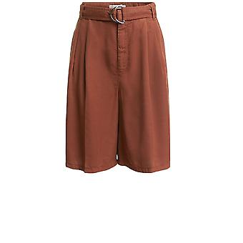 Oui Terracotta Belted Shorts