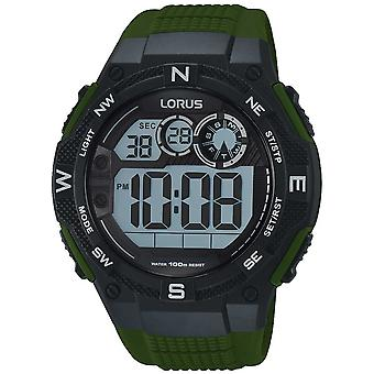 Lorus R2321LX-9 Green Strap Digital Sports Wristwatch