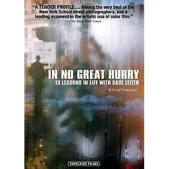 In No Great Hurry: 13 Lessons in Life with Saul [DVD] USA import