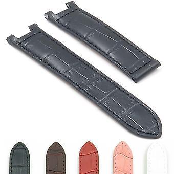 Strapsco dassari london crocodile leather embossed strap for cartier pasha