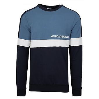 Antony Morato Blue Crew Collo Sweatshirt