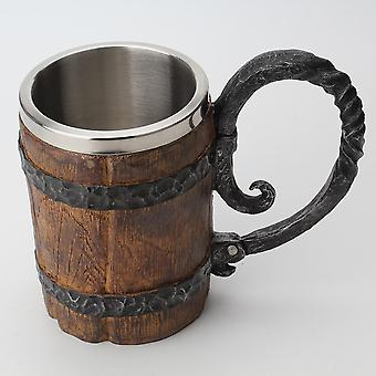 Wooden Barrel Stainless Steel Resin 3d Beer Mug - Goblet Game Tankard Coffee