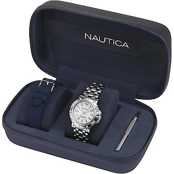 Nautica Watch NAPPRH005 - Pläterad rostfritt stål Ladies Quartz Analog