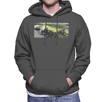 Lørdag aften Post Vintage Race Car Peter Helck Mænd's Hætteklædte Sweatshirt