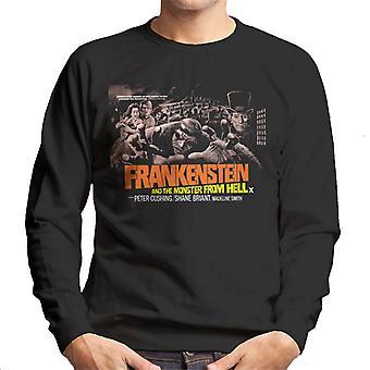 Hammer Horror Films Frankenstein Monster From Hell Grab Men's Sweatshirt