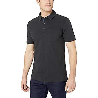 Goodthreads Men's Short-Sleeve Sueded Jersey Polo, Black, Large