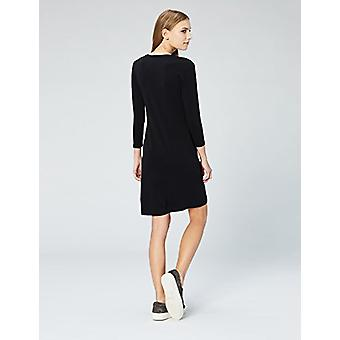 Brand - Daily Ritual Women's Stretch Supima Long-Sleeve Dress, Black, ...