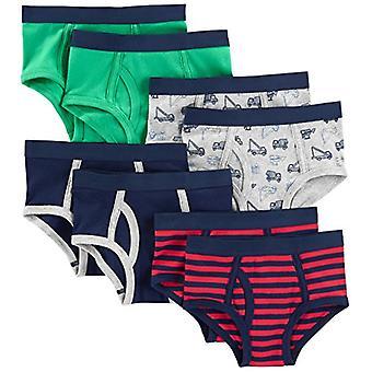Einfache Freuden von Carter's Baby Boys' Kleinkind 8-Pack Unterwäsche, Navy/Red/Trucks/...