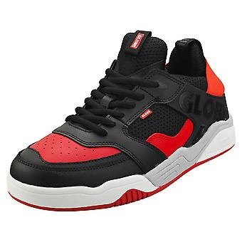 Globe Tilt Evo Mens Skate Trainers in Black Red