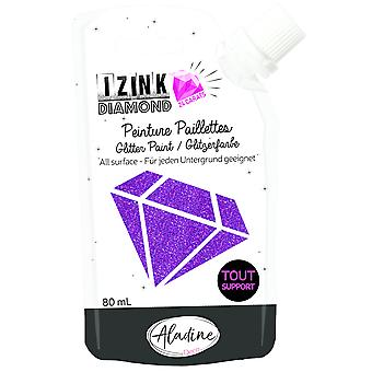 Aladine Izink Diamond Glitter Paint 24 karat lilla 80ml
