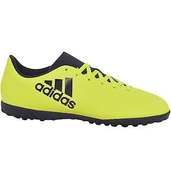 adidas Performance Boys Kids X 17.4 Turf Training Lace Up Football Boots Yellow