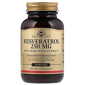 Solgar, Resveratrol, 250 mg, 30 Softgels