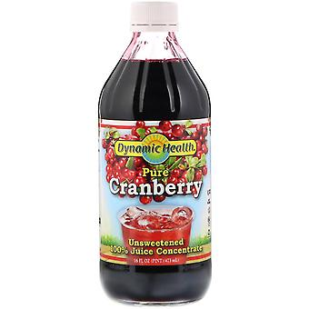 Dynamic Health  Laboratories, Pure Cranberry, 100% Juice Concentrate, Unsweetene