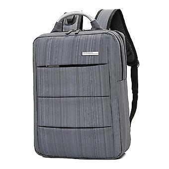 Men's business backpack with usb charging feature