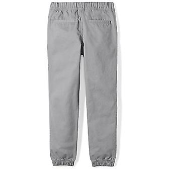 Brand - Spotted Zebra Big Boys' Geweven Jogger Pants, Grey, Large (10)