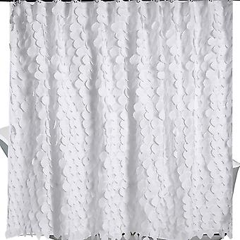 YANGFAN White Simple Fashion Waterproof Large Lace Shower Curtain