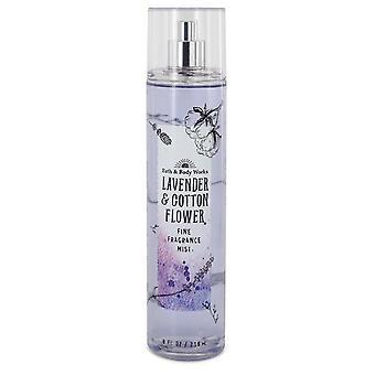 Bad og kropp arbeider lavendel og bomull blomst fin duft tåke av bad og kroppen fungerer 240 ml