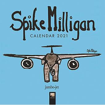 Spike Milligan Mini Wall kalender 2021 Art Calendar door Gemaakt door Flame Tree Studio