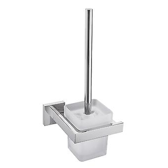 Stainless Steel Square Wall-mounted Toilet Brush