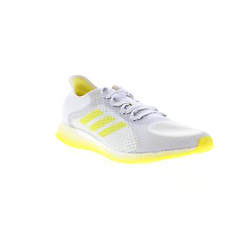 Adidas Focus Breathe In  Womens White Mesh Lace Up Athletic Running Shoes