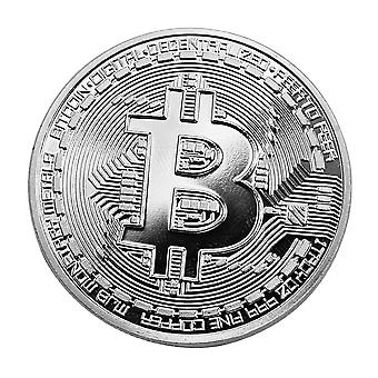 Silver-colored Bitcoin lucky peng