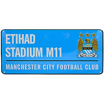 Manchester City FC Official Football Crest Street Sign