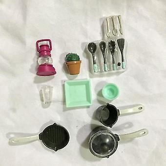 Mini Tableware Dollhouse Miniature Figure Fork Pot Set