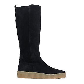 Gabor 739-76 Navy Suede Leather Femmes Bottes à jambes longues