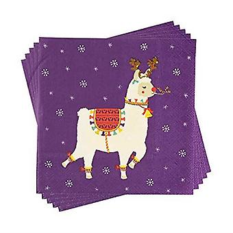 Llama papper Christmas Party servetter x 20