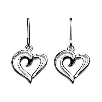 Brincos de gota de fios de prata de orvalho sterling 68028HP016