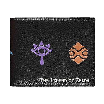 Zelda Portefeuille Symboles Logo nouveau Bifold officiel noir