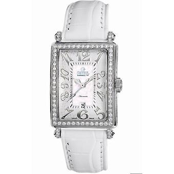 Gevril Women's 6209NL Glamour Automaattinen Diamond MOP Dial Nahka Päivämäärä Watch