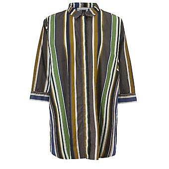 Masai Clothing Indira Green Striped Shirt