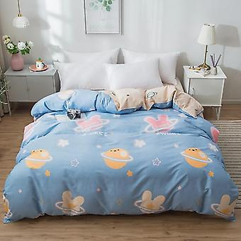 dual-sided Duvet Cover  soft Comfortable Cotton Printing Comforter -textiles Quilt Cover set 14