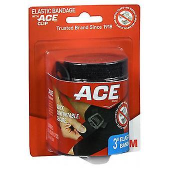 3M Ace Black Elastic Bandage, 3'' 1 Each